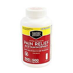 Berkley Jensen Acetaminophen Tablets 500 mg