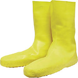 Servus Disposable Latex Booties Large Yellow