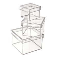 Divoga Storage Boxes SmallMediumLarge Clear Pack