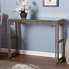Southern Enterprises Akola Woven Console Table