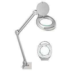 Realspace Clamp On Magnifier Task Lamp 24 H Silver By