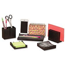 Safco Wood Desk Organizer Set 21