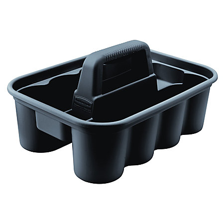 rubbermaid commercial deluxe carry caddy black black newell office depot