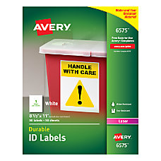 Avery Permanent Durable ID Labels 8