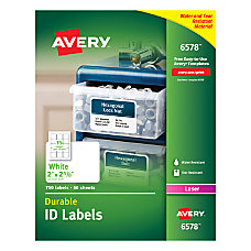Avery Permanent Durable ID Labels 2