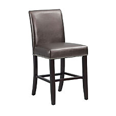 Powell Home Fashions PU Metallic Stool