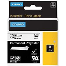 DYMO Rhino 18483 Polyester Industrial Black