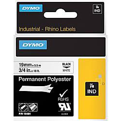 DYMO Rhino 18484 Polyester Industrial Black