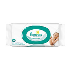 Pampers Sensitive Baby Wipes Unscented 6