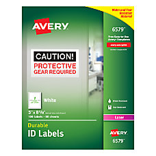 Avery Permanent Durable ID Labels 5