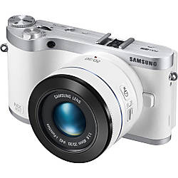 Samsung NX300 20.3 Megapixel Mirrorless Camera (Body with Lens Kit) - 45 mm - White