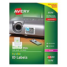 Avery Permanent Durable ID Labels 1