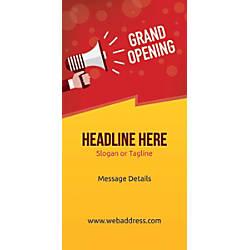 Custom Vertical Banner Grand Opening Announcement