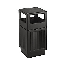 Safco Canmeleon Side Open Receptacle Square