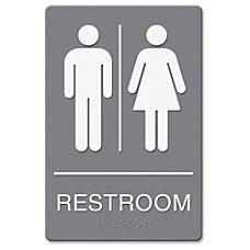 Headline Restroom Image Indoor Sign 1