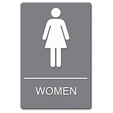 US Stamp Sign ADA Women Restroom