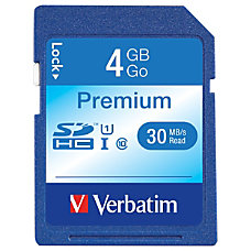 Verbatim 4GB Premium SDHC Memory Card