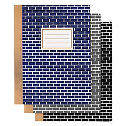Divoga Composition Notebook Bricks Design 9