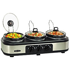 Bella 3X15QT Oval Triple Slow Cooker