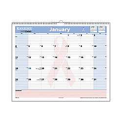 "AT-A-GLANCE® QuickNotes® 30% Recycled Special Edition Breast Cancer Awareness Desk/Wall Calendar, 15"" x 12"", January-December 2013"