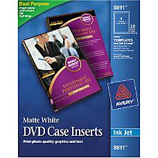 Avery Inkjet DVD Case Inserts 4