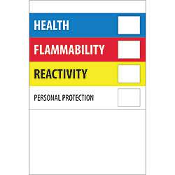 Tape Logic Preprinted Labels Health Flammability