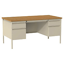 Lorell Fortress Series Double Pedestal Desk