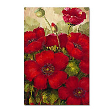 Trademark Global Poppies II Gallery Wrapped