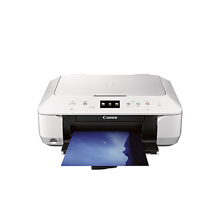 canon pixma wireless color inkjet photo all in one printer scanner copier white mg6620 by office. Black Bedroom Furniture Sets. Home Design Ideas