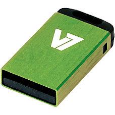 V7 32GB Green Nano USB Flash