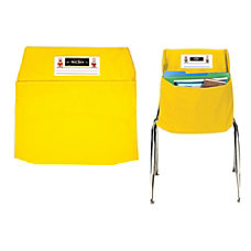 Seat Sack Organizers Small 12 Yellow