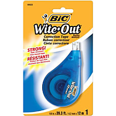BIC Wite Out Correction Tape Single