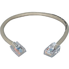 QVS 15ft 350MHz CAT5e Flexible Gray