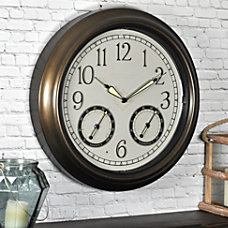 FirsTime LED Trellis Round Wall Clock