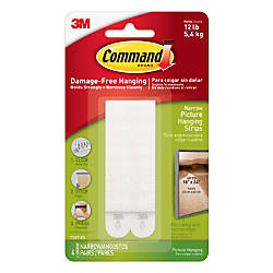 Command Narrow Picture Hanging Strip Plastic