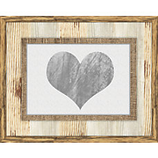PTM Images Photo Frame Heart Burlap