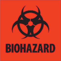 Tape Logic Preprinted Labels Biohazard Square