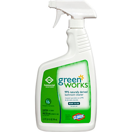 Green Works Natural Bathroom Cleaner 24 Oz By Office Depot Officemax