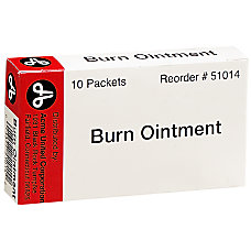 PhysiciansCare First Aid Burn Cream Packets