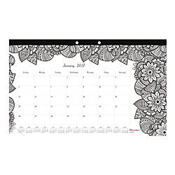 Blueline DoodlePlan Coloring Monthly Desk Pad furthermore House Of Doolittle Whimsical Doodle Monthly additionally Nicole Miller Monthly Desk Pad Calendar moreover  on office depot desk pad calendars