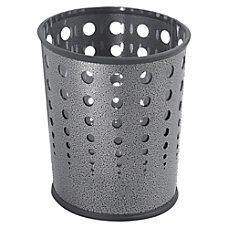 Safco Round Steel Wastebasket 6 Gallons