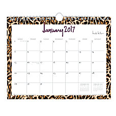 Nicole Miller Monthly Lined Wall Calendar