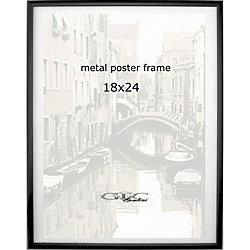 gemline metal poster frame 18 x 24 black