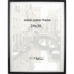 gemline metal poster frame 24 x 36 black