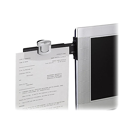 3m monitor mount dual document clip black by office depot With monitor mount document clip