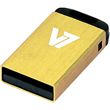 V7 8GB Yellow Nano USB Flash