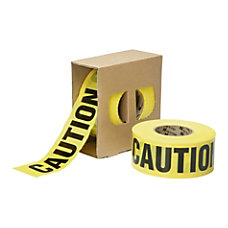 SKILCRAFT Non Adhesive Caution Barricade Tape