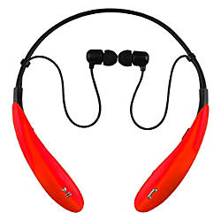 iq sound bluetooth wireless headphones and mic by office depot officemax. Black Bedroom Furniture Sets. Home Design Ideas