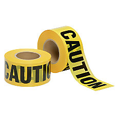 SKILCRAFT Non Adhesive Barricade Tape Caution
