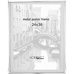 gemline metal poster frame 24 x 36 silver